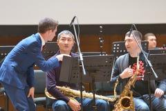 Anthony Strong tijdens Sib Jazz Fest Royalty-vrije Stock Foto's