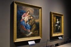 Anthony Van Dyck målningar på den Brera konstgallerit, Milan Royaltyfri Foto