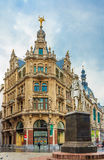 Anthony Van Dyck Statue in Antwerp Royalty Free Stock Photos