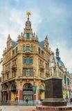 Anthony Van Dyck Statue in Antwerpen Royalty-vrije Stock Foto's