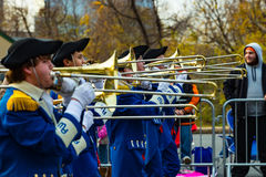 Anthony Wayne Marching Generals  Trombone Players Royalty Free Stock Images