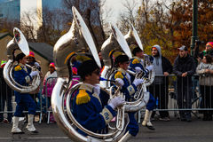 Anthony Wayne Marching Generals  Tuba Players Royalty Free Stock Photos