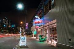 Anthonys Fish Bar Seattle Waterfront. Anthony`s Fish Bar on the Seattle Waterfront Pier 66 at night Stock Image
