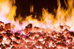 Anthracite burning Royalty Free Stock Image