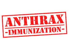 ANTHRAX IMMUNIZATION. Red Rubber Stamp over a white background Stock Image