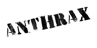 Anthrax rubber stamp Stock Image