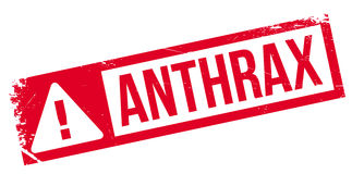 Anthrax rubber stamp Royalty Free Stock Photography