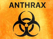 Anthrax biohazards, refer to biological substances that pose a threat to the health of living organisms, viruses. Anthrax, sign indicating the presence of royalty free illustration