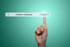Anthrax treatment Royalty Free Stock Image