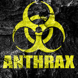 Anthrax virus concept background Stock Photos