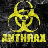 Anthrax virus concept background Stock Photos
