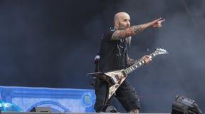 Anthraxschwermetallband leben in Konzert 2016 Lizenzfreie Stockfotografie