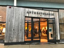Anthropologie at Legacy Place, Dedham, MA. Anthropologie located at Legacy Place in Dedham, MA royalty free stock photos