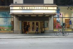 Anthropologie. An Anthropologie store in Manhattan. Anthropologie, owned by Urban Outfitters, is an American apparel and lifestyle retail brand royalty free stock image