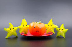 Anthropomorphic fruits Royalty Free Stock Images