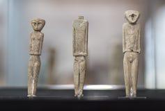 Anthropomorphous idols of Marroquies Bajos site Stock Photos