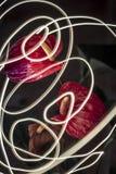 Anthuriums τη νύχτα Στοκ φωτογραφίες με δικαίωμα ελεύθερης χρήσης