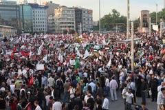 anti демонстрация Израиль Стоковая Фотография