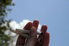 anti курить Стоковое фото RF