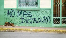 anti надпись на стенах Никарагуа правительства Стоковое Изображение RF
