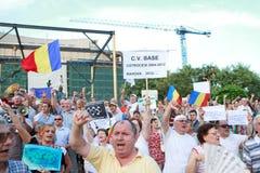 Anti президентский многотысячный митинг Стоковое Изображение RF