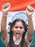 anti протест Индии развращения Стоковые Изображения RF