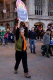 anti война протеста Стоковая Фотография