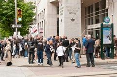 anti 2012 kan philadelphia protestpsykiatri Arkivbild