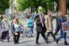 Anti--abort demonstration Arkivfoton