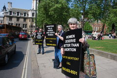 Anti-abortion demonstration. In London Stock Photos