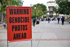 Anti-Abortion Sign at UCLA Royalty Free Stock Photography