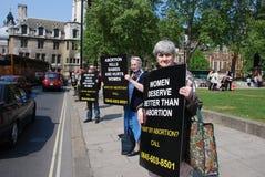 Anti-abortiondemonstration Stockfotos