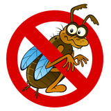 Anti abstract insect sign Stock Images