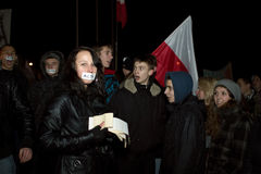 Anti ACTA Pologne photo stock