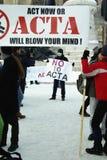Anti ACTA Romania Stock Photography