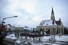 Anti ACTA Roumanie Photographie stock