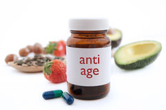 Anti age pills Royalty Free Stock Photo
