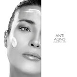 Anti Aging and Beauty Concept. Spa Treatment. Template Design Royalty Free Stock Photography
