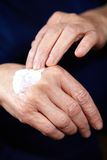 Anti aging cream for hands Royalty Free Stock Photo