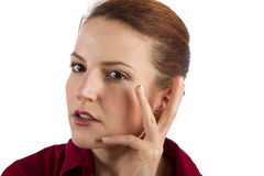 Anti Aging Cream. Woman applying anti aging cream ointments Royalty Free Stock Photography
