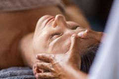 Anti-aging facial treatment royalty free stock photo