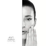 Anti Aging and skincare concept stock images