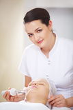 Anti-aging treatment at beauty treatment salon Stock Image
