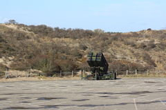 Anti-air missile system on parking lot Stock Image