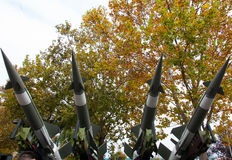Anti-air missiles on louncher Stock Photography