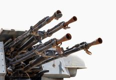 Anti-air weapon system. Isolated with Clipping Path Stock Photography