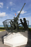 Anti-Aircraft, Arromanches-les-bains. Calvados, Basse-Normandie, France royalty free stock image