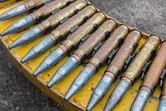 Anti-aircraft bullet 23 mm. Old anti-aircraft bullet 23 mm Stock Photo