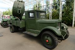 Free Anti-aircraft Car Searchlight Station Type 3-15-4B On The Basis Of The Car ZIS-12 On Poklonnaya Hill In Moscow Stock Photography - 141141832