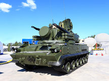Anti-aircraft defense complex Tunguska Royalty Free Stock Photo